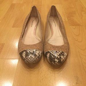 Alexandre Birman Shoes - Alexandre Birman Python-Cap Cork Ballerina Flat