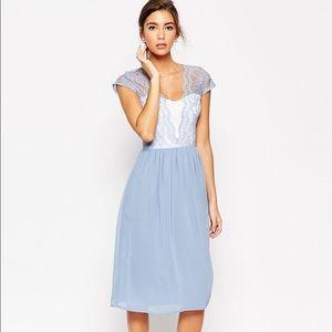 ASOS Dresses & Skirts - ASOS Scallop Lace Midi Dress
