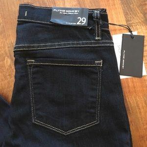 Flying Monkey High Waist Dark Wash Skinny Jeans 29