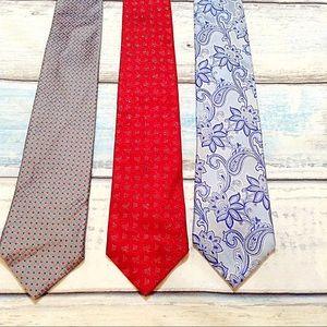 Geoffrey Beene Other - Geoffrey Beene Extra Long Necktie Bundle