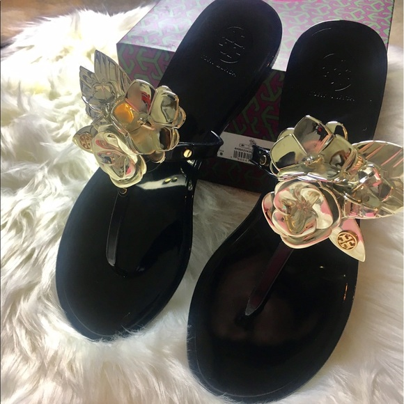 0ecc3d291a66 Tory Burch Blossom Jelly Sandals