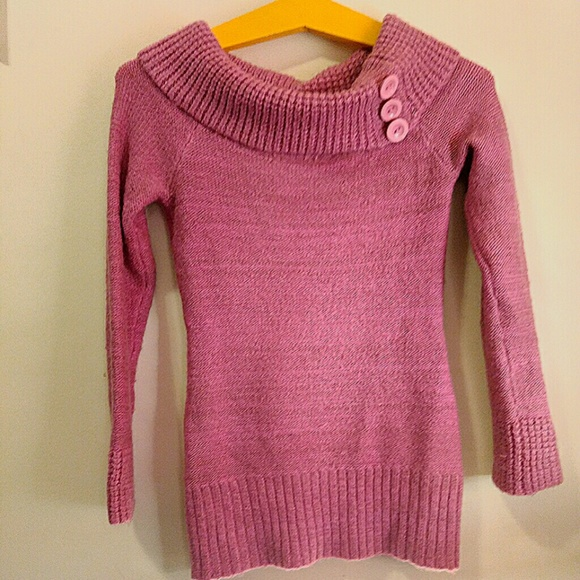 78% off Say What? Sweaters - Cute mauve cowl neck sweater! By Say ...