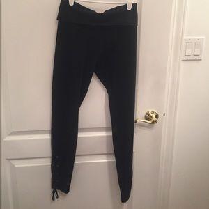 Hard Tail Pants - Hard Tail Side Detail Lace-Up Leggings