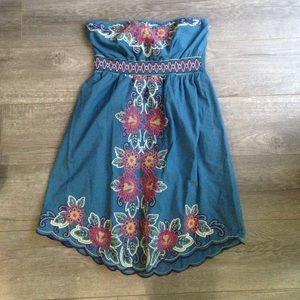 Flying Tomato Dresses & Skirts - Flying tomato strapless embroidered dress L