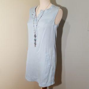 Trina Turk Sleeveless Light Blue Shirtdress 0