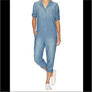 Current/Elliott Chambray Nautical Jumpsuit