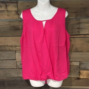 Daisy Fuentes Tops - 🆕 Daisy Fuentes pink top. Size xlarge.
