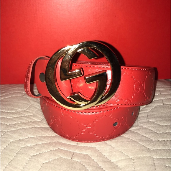 558612c814d Gucci Other - Used Red Gucci belt 32-34 US inches