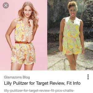 Worn once. Lilly Pulitzer romper.