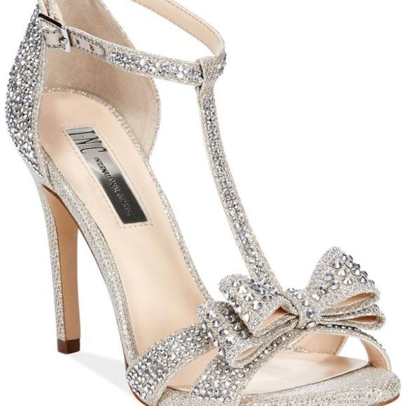 INC International Concepts Shoes - INC Gold Silver Sparkly Heels Sz 8.5 8f17e77754