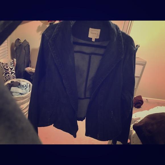 torrid Jackets & Blazers - Torrid Blue jean jacket