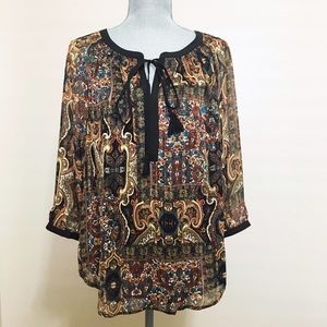 Anthropologie Tops - Anthropologie bohemian top with tassels