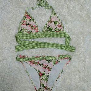 Rampage Other - Rampage retro print bikini set