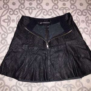 Reformation Dresses & Skirts - Madewell genuine leather mini skirt