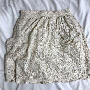 UO Cream Lace Skirt