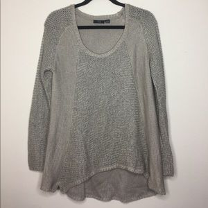 RDI taupe knit sweater