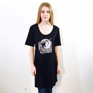Anna Sui Dresses & Skirts - ANNA SUI UNICORN GRAPHIC PRINT TEE SHIRT DRESS