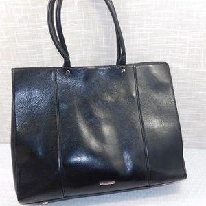 Rebecca Minkoff Large Black Leather MAB Tote