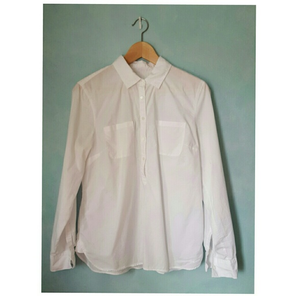 71 off talbots tops talbots womens crisp white cotton for Crisp white cotton shirt