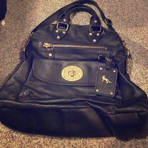 Emma Fox Handbags - Black leather Emma Fox bag