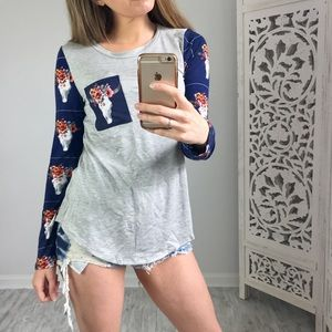 Twilight Gypsy Collective Tops - Boho Cattle Long Sleeve Top