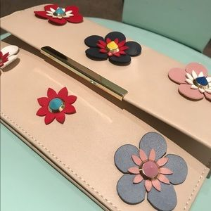 kate spade Handbags - New! Super cute,Flowery Embellished Clutch Purse