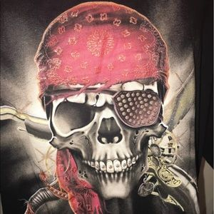 CH Gold Series Other - Men's pirate skeleton skull shirt XL ☠️☠️☠️🔥🔥