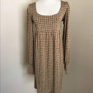 Juicy Couture 100% Silk Key Print dress
