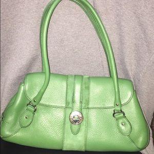 Cole Haan Green Leather Handbag