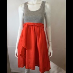 Gray-orange dress by One September (Anthropologie)