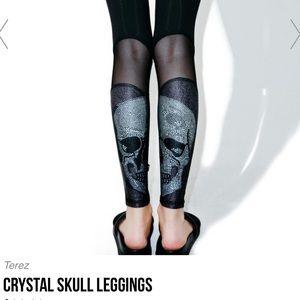 Zara Terez Pants - Zara TEREZ crystal skull leggings gym pants