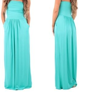 Rags and Couture Dresses & Skirts - Strapless Maxi Dress with Pockets SIZE: LARGE NWT