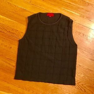 Hugo Boss Sweaters - Hugo Boss Window Pane Knit Sweater Vest