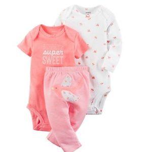 Carter's Other - Baby Girl Carter's Strawberry Bodysuit & Pants Set