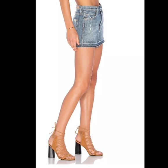 GRLFRND Skirts - GRLFRND CLAUDIA DENIM BLUE MINI SKIRT SIZE 29 NEW