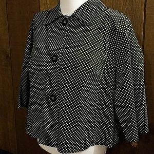 Cato Jackets & Blazers - Cato black and white polka dot swing jacket 18/20W