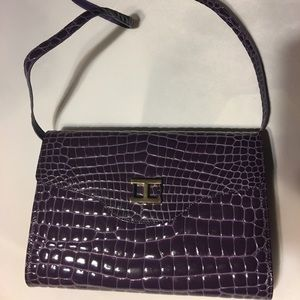 Handbags - Raphael Purple Genuine Crocodile Italian Purse