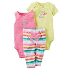 Carter's Other - Baby Girl Carter's Bodysuit & Striped Leggings Set