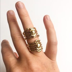 Forever 21 Jewelry - NWOT Forever 21 Moon Phases Stacked Rings Set