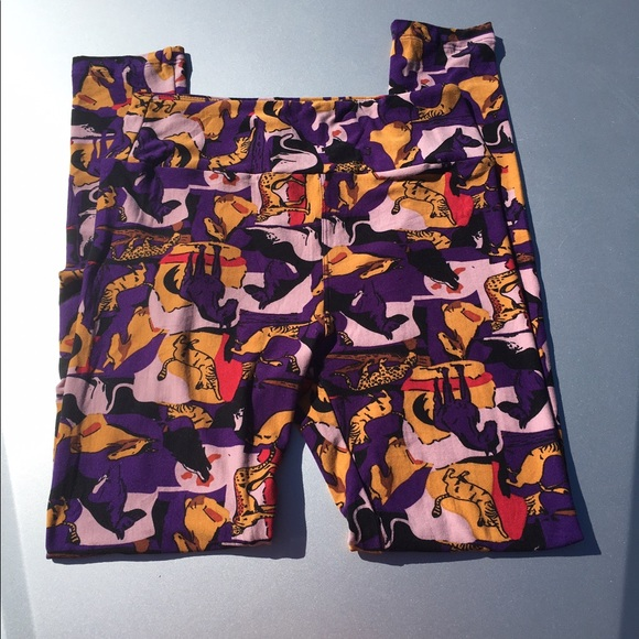 4f30375b8f8dc1 LuLaRoe Pants | Unicorn Cathorse Print Purple Leggings | Poshmark