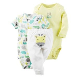 Carter's Other - Baby Carter's 3-Pc. Giraffe Bodysuit & Pants
