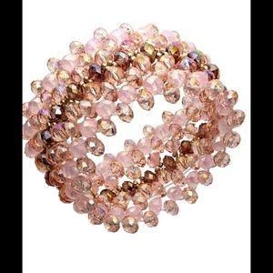 Cake Jewelry - Pink Glass Stretch Bracelet, c.A.K.e by Ali Khan