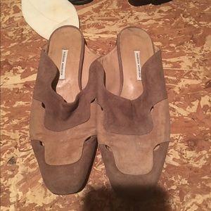 Sigerson Morrison Shoes - Vintage Sigerson Morrison Suede Slippers