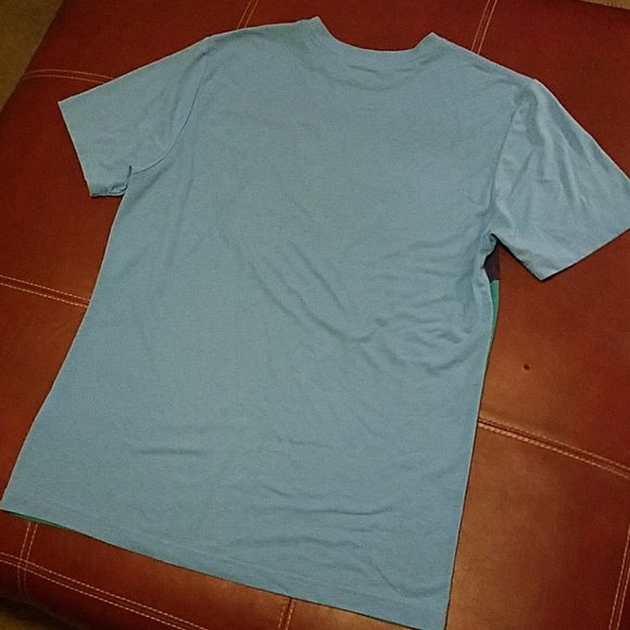 44 off nike other nike regular fit blue neon green for Bright purple t shirt