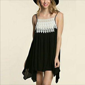 Threadzwear Dresses & Skirts - NWT 🐱🐱Lace Bib Tunic Dress🐱🐱