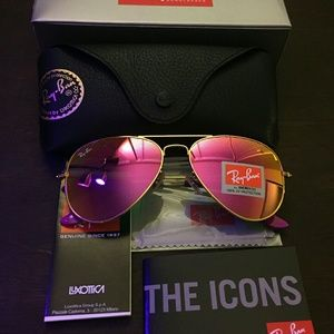 Gold and  pink ray-ban aviator