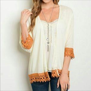 Threadzwear Tops - NWT Crochet Kimono