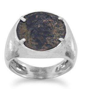 🆕Ancient Roman Coin Ring 925 Sterling Silver