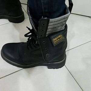 Superdry Shoes - Superdry leather boots