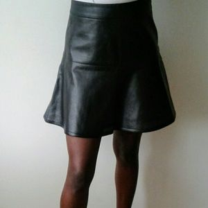 Ann Taylor perforated leather skirt